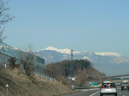 雪山が見えるよ