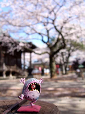 桜とサザエ鬼