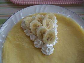 バナナものっけて
