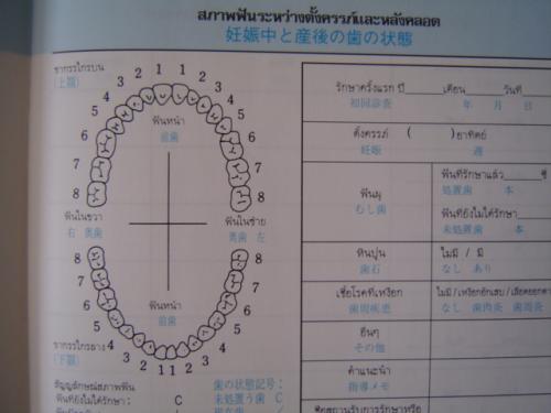タイ語母子手帳2
