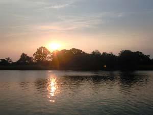 2008年7月19日の夕日。