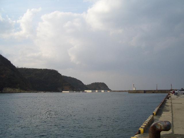 温泉津の港