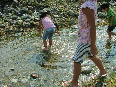 岩魚つかみ