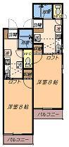 洋室8帖+ロフト
