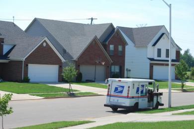 偶然通りかかった郵便屋さん