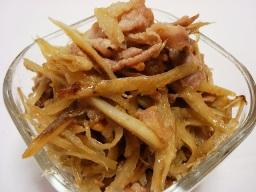 豚肉とごぼうの味噌炒め