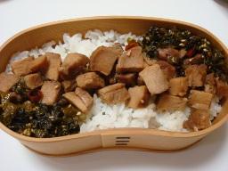 焼き豚高菜丼