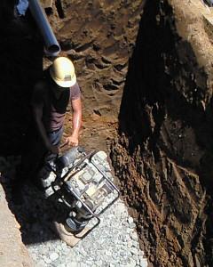 浄化槽の埋め込み穴