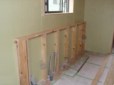キッチン 造作壁