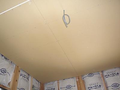 2階天井 石膏ボード施工