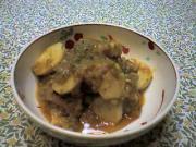 キプロス風豚肉とタロイモのトマト煮込み(サトイモ編)