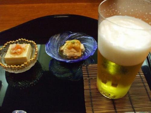 先付け&ビール