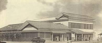 街道風の外観の土山公民館完成予想図