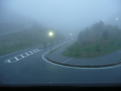 0417夕方の散歩靄1