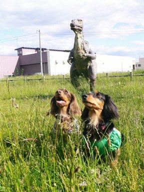 恐竜&2ワン