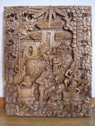 木彫りパネル