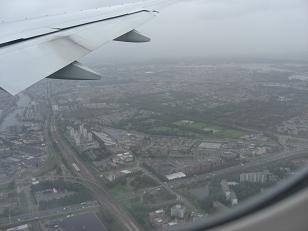 アムステルダム上空