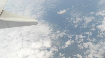 2 九州を過ぎて東シナ海上空