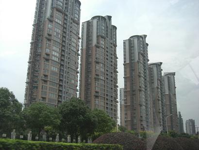 5 上海のマンション群