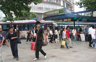 8 上海駅前広場 バス停
