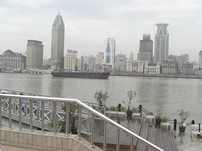 1 ホテルの近くの黄浦江 河畔