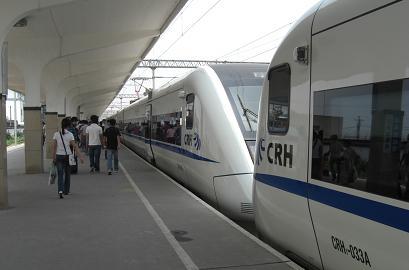 7 新幹線で蘇州へ到着