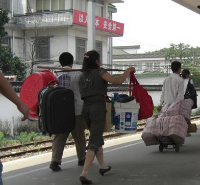 8 新幹線を降りた人 蘇州