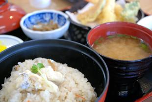 鯛めし天ぷらセット
