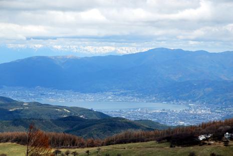 入笠山から臨む諏訪湖
