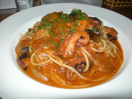イイダコのラグーのスパゲッティ