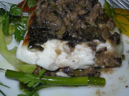 シマアジの鉄板焼き2