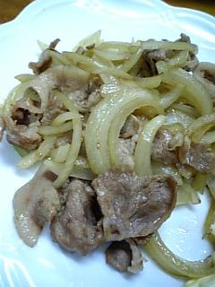玉ねぎ&豚の炒め物