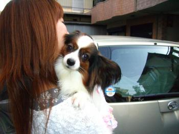 ママに抱かれて幸せなナナちゃん!