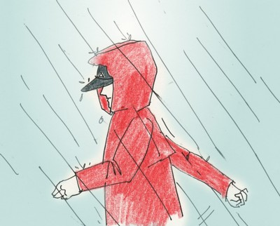 3月 雨1