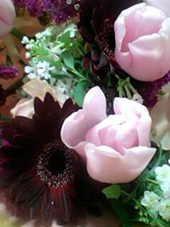 花束いただきました
