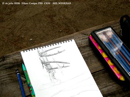 Dibujando en la naturaleza