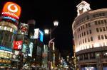 銀座の夜の街並み画像