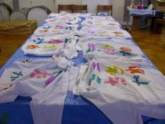 Yシャツに刷った42完成ミニたちかわ・全部