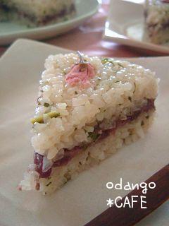 春色満開♪道明寺粉の桜餅ケーキ