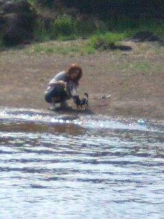 me & Lindsay @ lake Kawaguchi