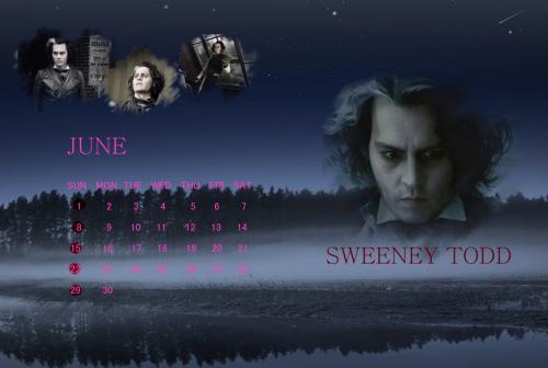 6月用カレンダー
