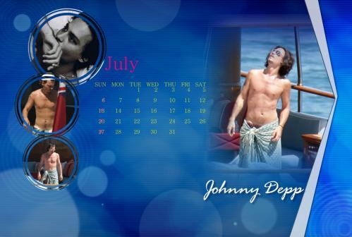 ジョニー7月カレンダー