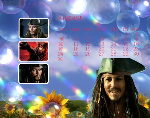 ジョニー8月カレンダー(ジャック)