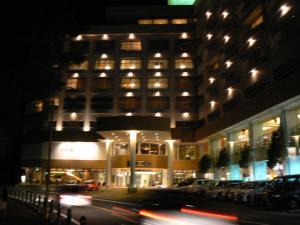 ホテル外観 ライトアップ