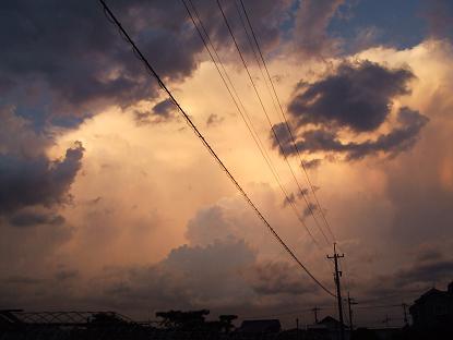2オレンジ雲