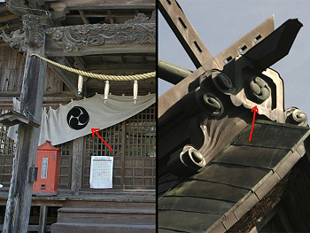 大田八幡宮の紋