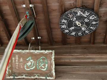 円通寺の方位盤