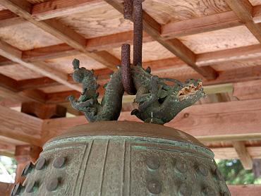 赤郷八幡宮の梵鐘:竜頭(龍頭)