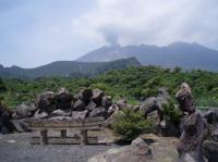 桜島埋まった鳥居
