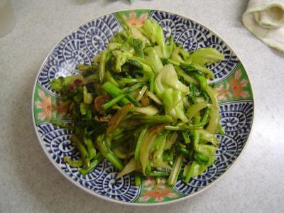 かき菜とキャベツの炒め物